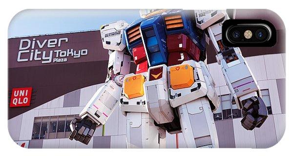 Odaiba iPhone Case - Gundam Giant Statue In Diver City Tokyo Japan by Oleksiy Maksymenko