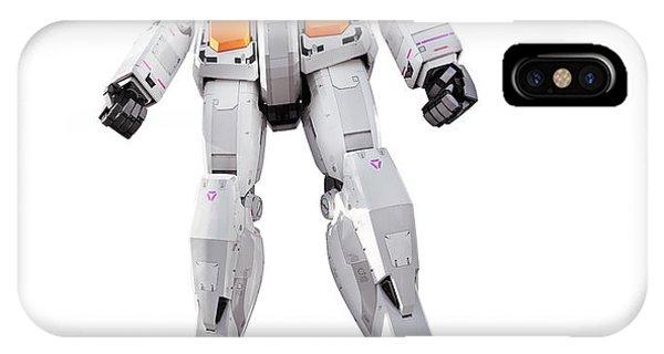 Odaiba iPhone Case - Gundam Rx-78-2 Statue Isolated On White by Oleksiy Maksymenko
