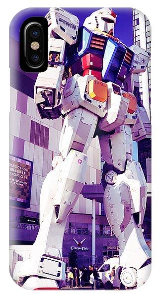 Odaiba iPhone Case - Gundam Statue At Diver City Odaiba Tokyo Japan by Oleksiy Maksymenko