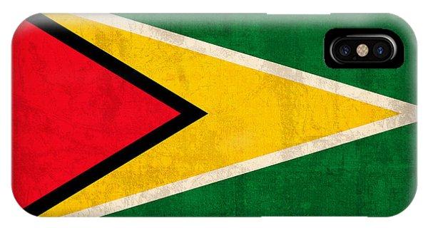 Guyana Flag Vintage Distressed Finish IPhone Case