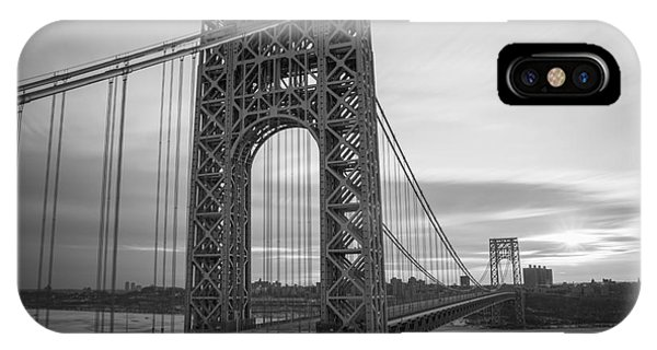 Gw Bridge Winter Sunrise IPhone Case