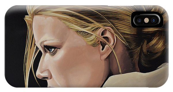 Glamour iPhone Case - Gwyneth Paltrow Painting by Paul Meijering