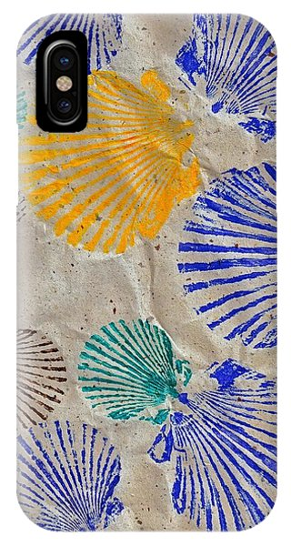 Gyotaku Scallops - Shellfish Apetite Sushi IPhone Case