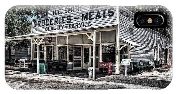 H C Smith's Groceries Heritage Village IPhone Case