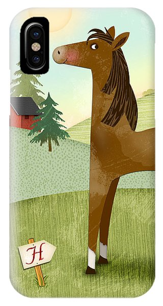 H Is For Henry The Horse IPhone Case