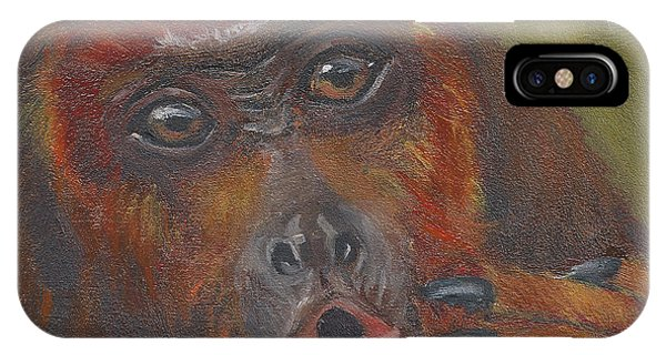 H Is For Howler Monkey IPhone Case