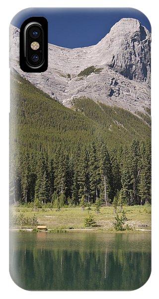 Ha-ling Peak Rises Above Quarry Lake Phone Case by Richard Berry