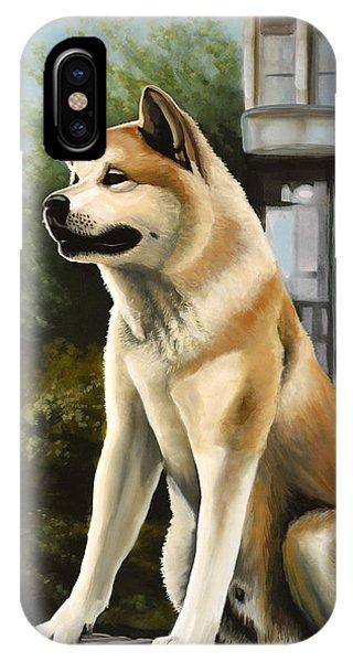 Hachi Painting IPhone Case