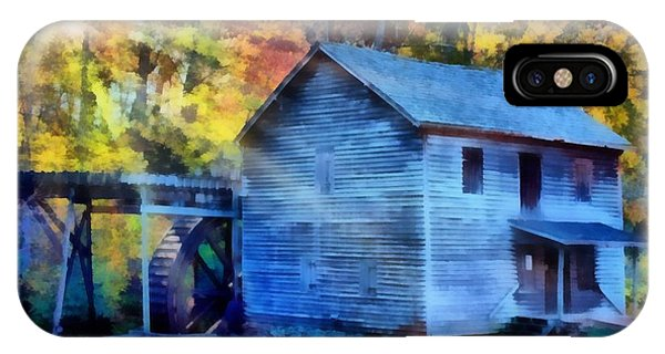 Hagood Mill With Sunrays IPhone Case