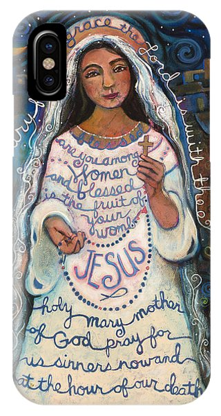 Prayer iPhone Case - Hail Mary by Jen Norton