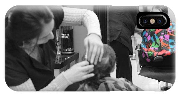 Hair Dresser - The First Cut Phone Case by Lee Dos Santos