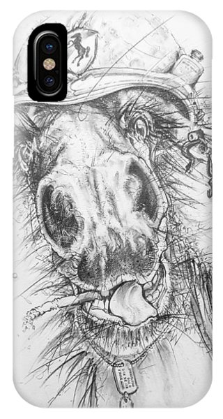 Hair-ied Horse Soilder IPhone Case