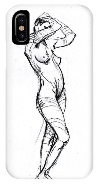 IPhone Case featuring the drawing Hair by John Jr Gholson
