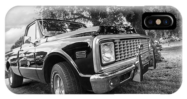Halcyon Days - 1971 Chevy Pickup Bw IPhone Case