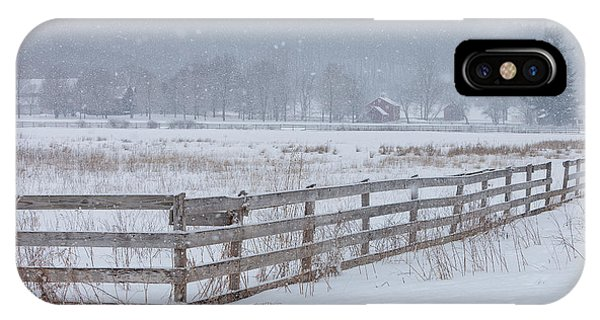 Hale Farm At Winter Phone Case by Joshua Clark
