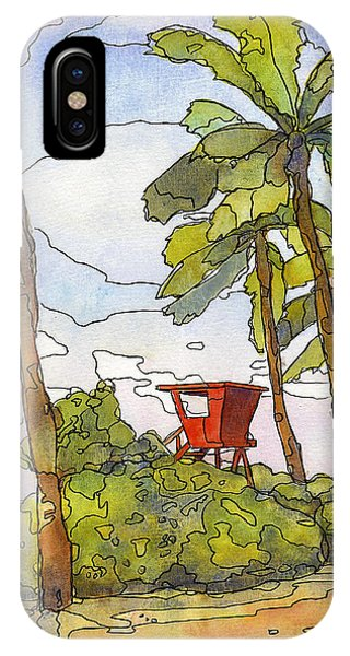 Hawaiian Sunset iPhone Case - Haleiwa Lifeguard Tower 1 by Stacy Vosberg