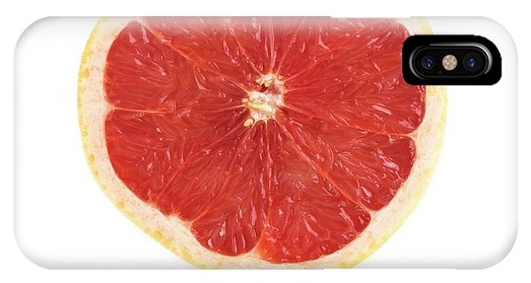 Grapefruit iPhone Case - Half A Grapefruit by Science Photo Library