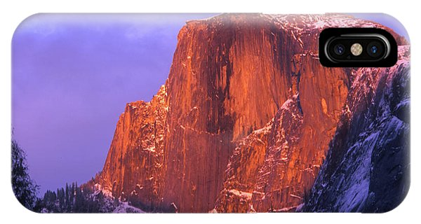 Half Dome Alpen Glow IPhone Case