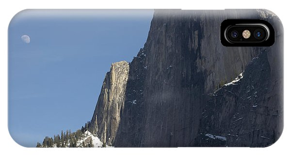 Half Dome And Moon Phone Case by Richard Berry