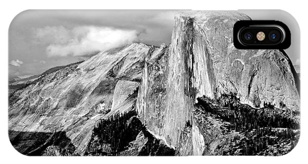 Half Dome Black And White IPhone Case