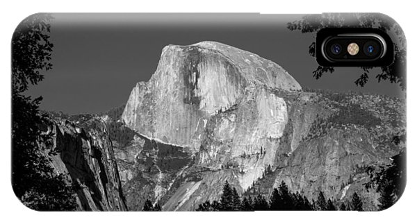 IPhone Case featuring the photograph Half Dome Black And White by Pierre Leclerc Photography
