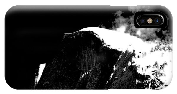 Half Dome In Winter Bw IPhone Case