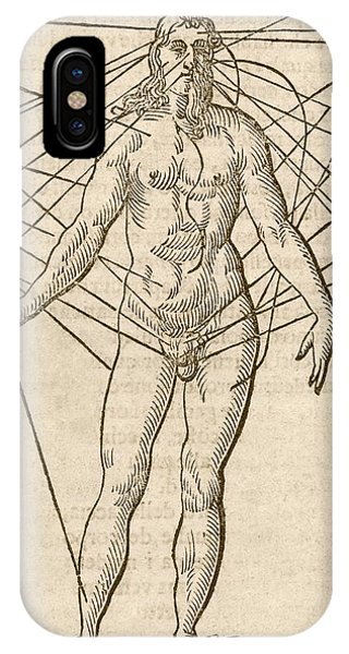 Hybrid iPhone Case - Half-man Half-woman by Middle Temple Library