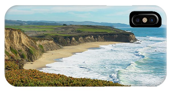 Half Moon Bay iPhone Case - Half Moon Bay, California, Cliffs by Bill Bachmann
