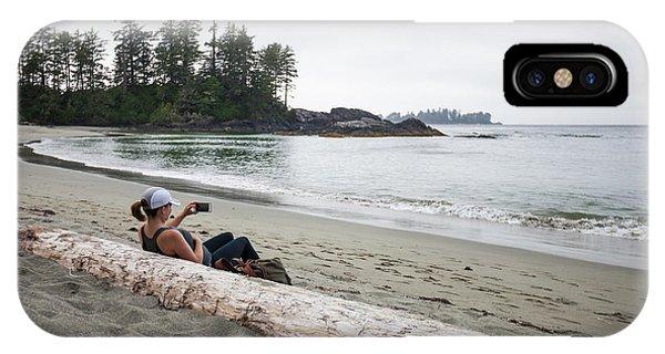 Half Moon Bay iPhone Case - Half Moon Bay, Pacific Rim National by Christopher Kimmel