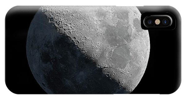 Half Moon iPhone Case - Half Moon by J-p Metsavainio/science Photo Library