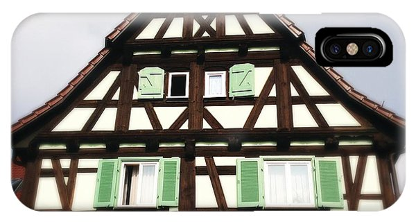 House iPhone Case - Half-timbered House 01 by Matthias Hauser