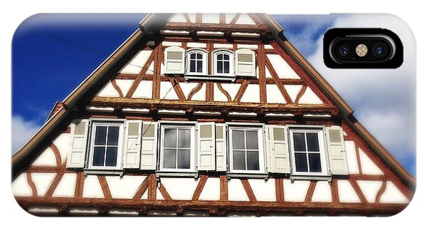 House iPhone Case - Half-timbered House 03 by Matthias Hauser