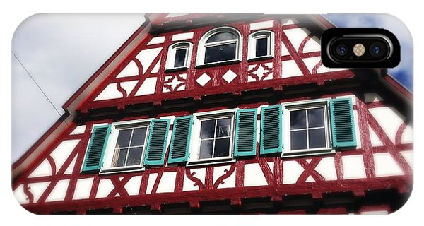 House iPhone Case - Half-timbered House 04 by Matthias Hauser