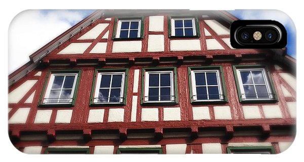 House iPhone Case - Half-timbered House 05 by Matthias Hauser