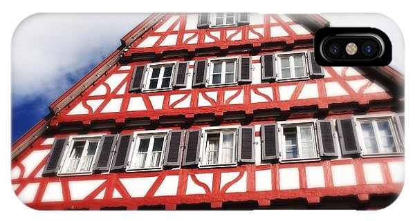 House iPhone Case - Half-timbered House 06 by Matthias Hauser