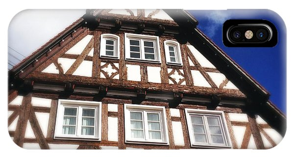 House iPhone Case - Half-timbered House 08 by Matthias Hauser