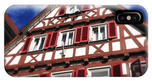 House iPhone Case - Half-timbered House 09 by Matthias Hauser