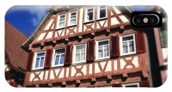 House iPhone Case - Half-timbered House 10 by Matthias Hauser