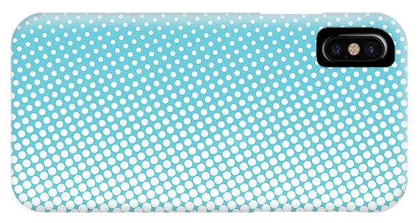 White Background iPhone Case - Halftone Background, Pop Art Design by Bobnevv