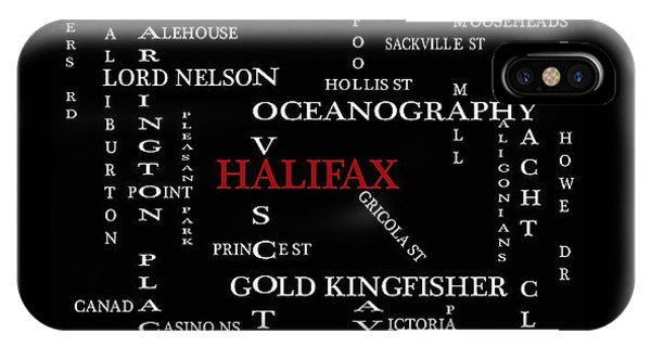 Halifax Nova Scotia Landmarks And Streets IPhone Case