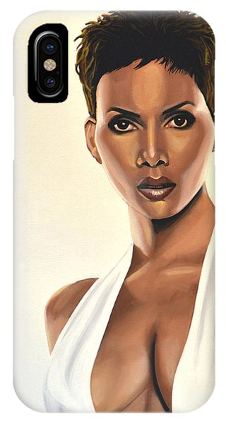 Swordfish iPhone Case - Halle Berry Painting by Paul Meijering