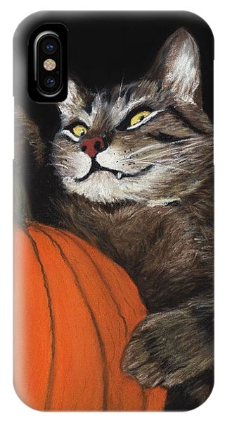 Eyes iPhone Case - Halloween Cat by Anastasiya Malakhova