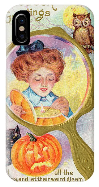 Hallowe'en Magic - Lighting Phone Case by Mary Evans Picture Library