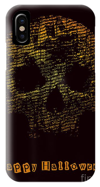 Cemetery iPhone Case - Halloween Poster With Skull. Vector by Jumpingsack