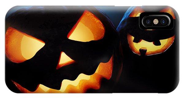 Pumpkin iPhone Case - Halloween Pumpkins Closeup -  Jack O'lantern by Johan Swanepoel