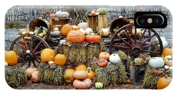 IPhone Case featuring the photograph Halloween Pumpkins by Susan Leonard