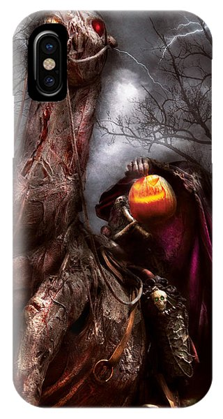 Horseman iPhone Case - Halloween - The Headless Horseman by Mike Savad
