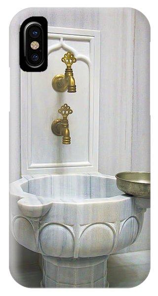Hamam Marble Sink In Istanbul IPhone Case