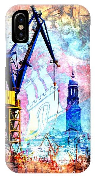 IPhone Case featuring the digital art Hamburg - Meine Perle by Marc Huebner