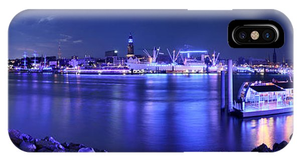 Hamburg Blue Port Panorama IPhone Case